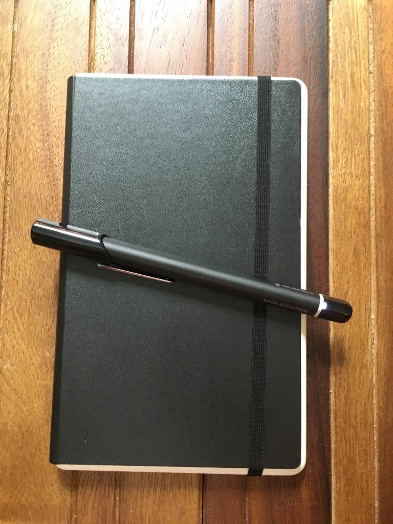 Moleskin Smart Writing set notebook and pen
