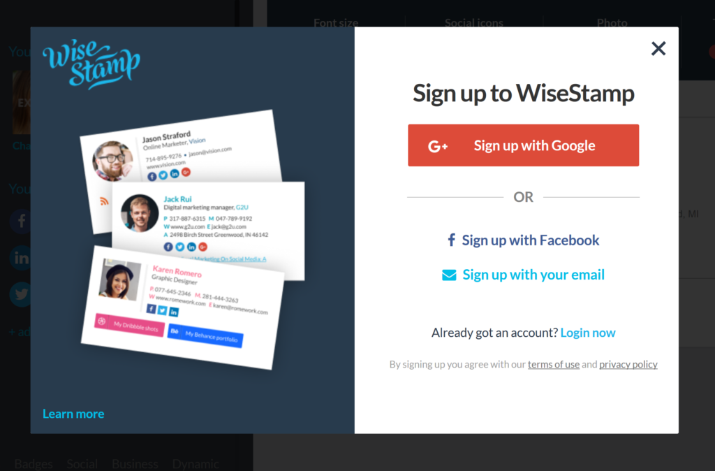 Wisestamp Example Customer Funnel #FunnelVision