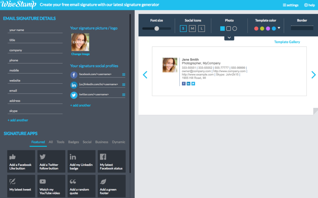 Wisestamp Example Page Customer Funnel #FunnelVision